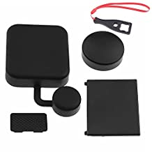 First2savvv GO-4JTG-ZT-01BS Camera Lens Cover, Standard Protect Housing Lens Cover, Replacement Battery Door and Replacement Side Door for Gopro Hero 4 / 3+ + spanner wrench