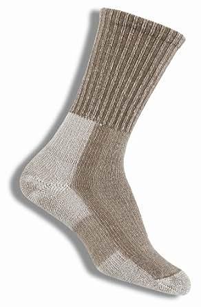 Thorlo Women's Wool/Silk Moderate Cushion Light Hiker Crew Sock,Khaki,Size Medium(Shoe Size 7-9)
