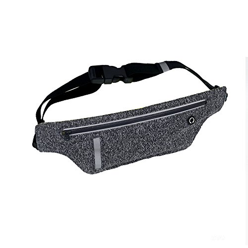 Running Belt, Sweatproof Adjustable Waist Pack With Compact Scalability Pocket, Workout Fanny Pack for iPhone, Samsung Galaxy, LG, HTC, Blackberry for Sport Gym Jogging Fitness.