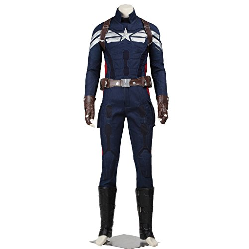 CosplayDiy Men's Costume for Captain America 2 The Winter Soldier Cosplay CM (Custom Made Captain America Costume)