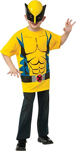 Rubies Marvel Universe Classic Collection Wolverine Costume T-Shirt with Mask, Child Small]()