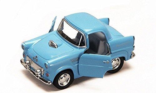 1955 Ford Thunderbird, Blue - Kinsmart 4022D - 4