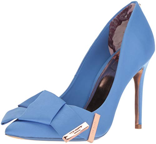 Ted Baker Women's INES Pump, Blue Satin, 6 Medium US (Ted Baker Blue Shoes)
