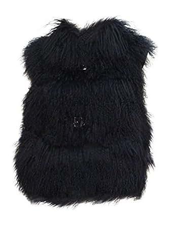 New Women's Tibetan Lamb Fur Buckle Vest Winter Jacket