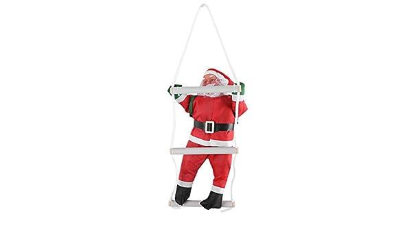 FTVOGUE 1 P/Set Escalada de Papá Noel Juguete Árbol de Navidad de Interior/ Exterior Ornamento Colgante Decoración: Amazon.es: Hogar