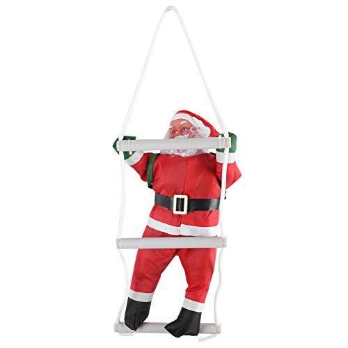 FTVOGUE 1 P/Set Escalada Santa Claus Juguete árbol de Navidad Interior/Exterior Colgante Adorno decoración