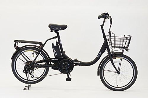 A 산(EISAN) 접이식 자전거 swifti-20 블랙 20인치 6 단변속 8.4Ah리튬 이온 배터리 탑재