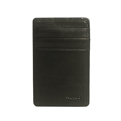 belarno-a230-cow-leather-flat-card-holder-with-id-4-card-slots-black-solid