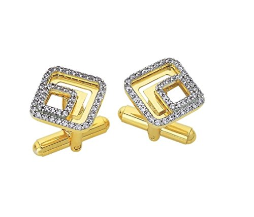 - Wedding 0.50Ct Natural Diamond 14K Yellow Gold Father Day Men Gift Cufflinks IJ Color SI Clarity Handcrafted Jewelry