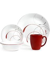 Corelle Livingware 16-Piece Dinnerware Set, Splendor Coupe (1)