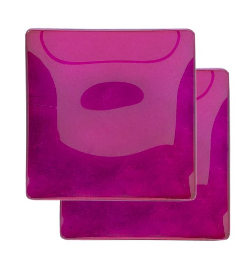 Momo Panache 5 Inch Pair Of Condi Dishes  Hot Pink  Square