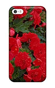 Snap-on Red Flowers Case Cover Skin Compatible With Iphone 5/5s