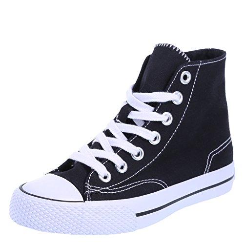 Airwalk Women's Black White Canvas Women's Legacee High-Top 8.5 Regular (Sneaker Hi Canvas)
