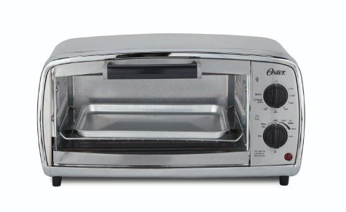 Oster Toaster Oven, 4 Slice, Stainless Steel (TSSTTVVGS1) by Oster