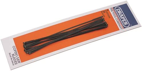 DRAPER 10 x 15tpi Coping Saw Blades for 64408 and 18052 Coping Saws64416
