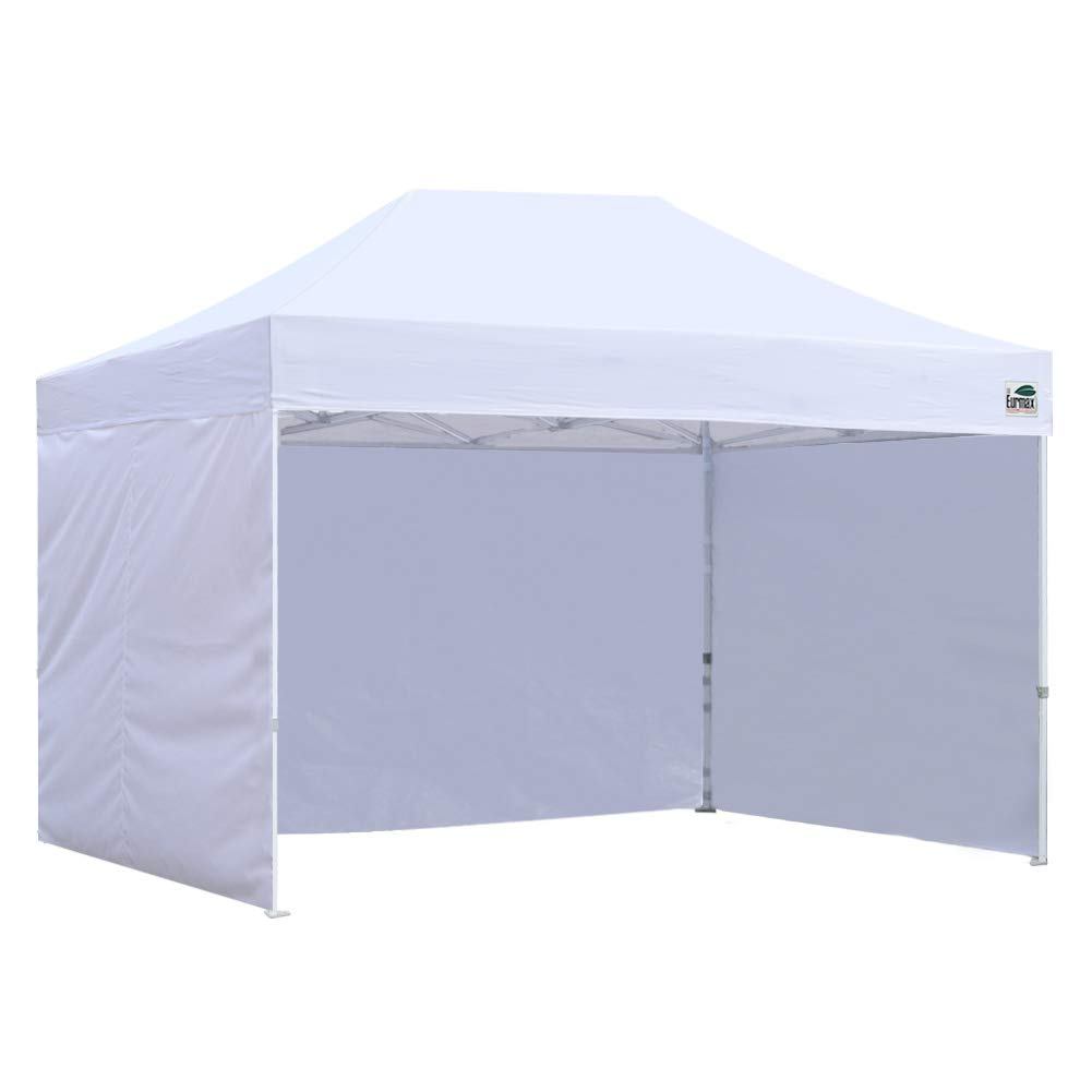 Eurmax Basic 8×12 Ez Pop up 4 Wall Canopy Instant Outdoor Party Tent Shade Gazebo 4 Sidew Walls