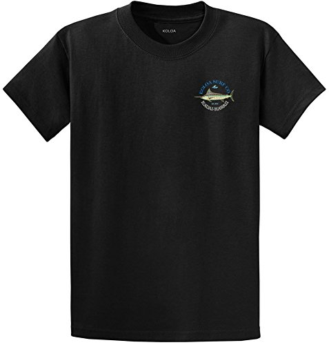 (Koloa Surf Mosaic Fish Design Heavy Cotton Tee-XL-Black/c)