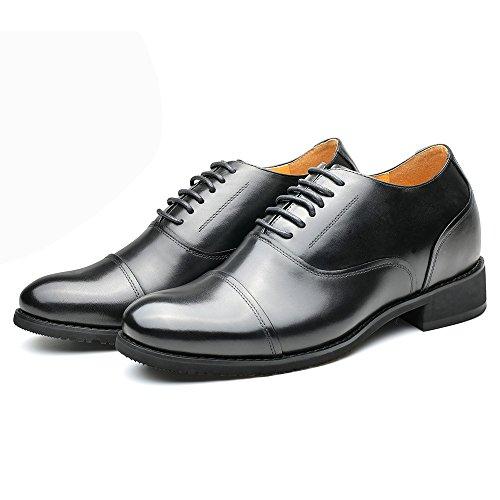 Chamaripa Herenleren Liftschoenen Hoogte Toenemende Oxford Schoenen 2,95 Inch 252h11-2 Zwart