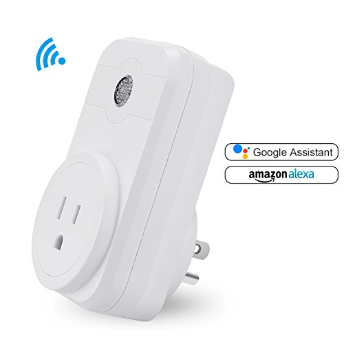 Price comparison product image Smart Plug SWA1 Mini Wireless Smart Socket Outlet Works with Amazon Alexa Echo Dot Google Home App Remote Control from Anywhere No Hub Required Timing Switch Home Device Energy Saving 1-Pack