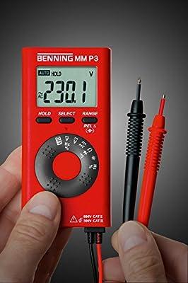 Benning MM P3 Digital Multimeter 4000 counts CAT II 600 V/CAT III 300 V