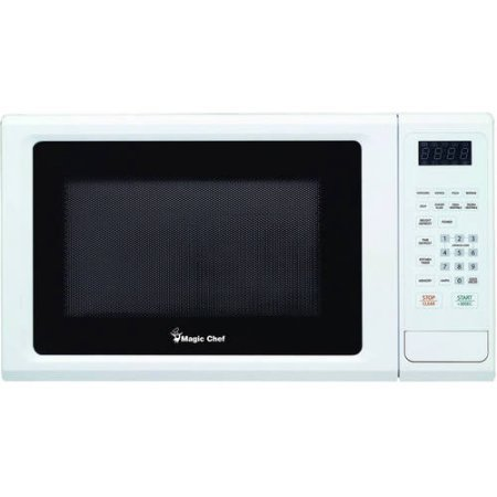 Magic Chef 1.1 cu ft Microwave, 10 power levels 8 auto cook menus (White) by Magic Chef