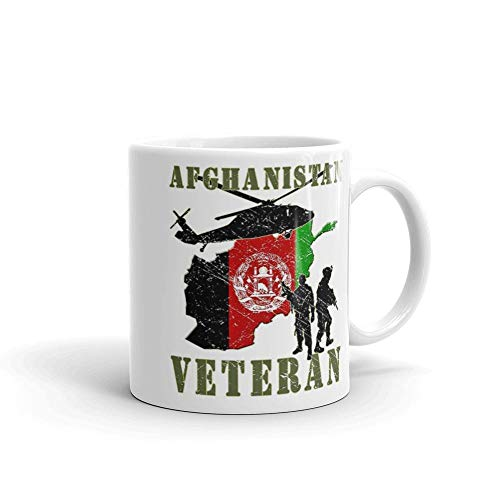 Coast Guard Afghan - Afghanistan Veteran 11oz Ceramic White Mug Gifts For Army, Air Force, Marines, Coast Guard, Air National Guard, Army National Guard.