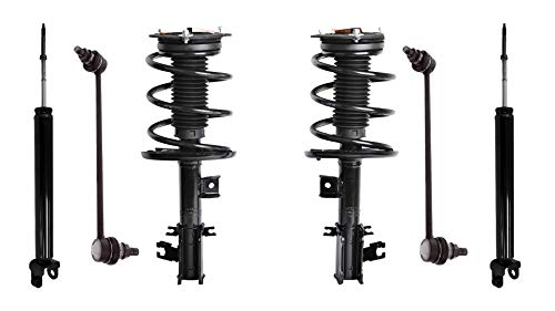 Detroit Axle - 6PC Front Strut & Coil Spring, Rear Shock Absorber and Front Sway Bar Links Assembly Set for 2007 2008 2009 2010 2011 2012 Nissan Altima
