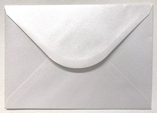 50 x Pearlised Shimmer White C5 (162x229mm) Envelopes by Cranberry
