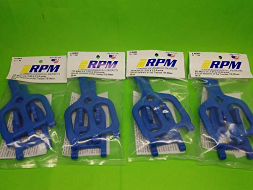 (rpmproducts 4 Pack Full Set RPM 80465 Front Rear Blue Suspension Arms Traxxas 2.5 3.3 T-maxx Emaxx tmaxx a arms Control arms)