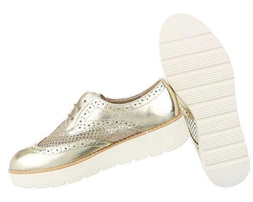 Damen Halbschuhe Schuhe Schnürer Elegant Weiß 37 EZOVxCttN