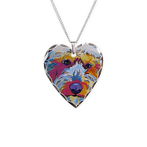 - CafePress - Sunshine The Doodle - Charm Necklace with Heart Pendant