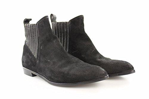 Billi Bi Damen Stiefel Negro Poncho Gr 38 Schwarz Stiefeletten Boots Leder #Z38