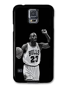 AMAF ? Accessories Michael Jordan MJ 23 Basketball Black & White case for Samsung Galaxy S5