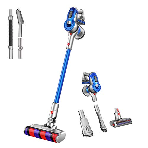 Jimmy JV83 Cordless Stick Vacuum Cleaner for Hard Floor, 150AW Suction Power, Rechargeable Battery Pack, Self Cleaning Floor Brush, HEPA Filter, Extra Tools for Whole Home Cleaning