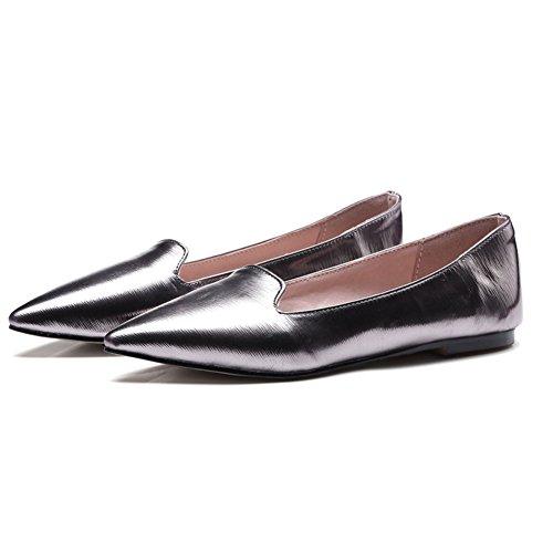 Primavera zapatos puntiagudos de planos/Zapatos ligeros/Europeo Joker zapatos B