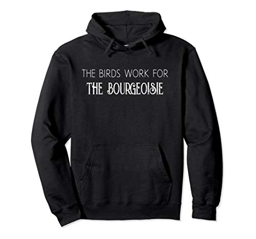 Funny Saying The Birds Work for the Bourgeoisie Quote Meme Pullover Hoodie