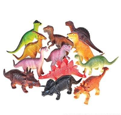 Realistic Looking Extra Large Dinosaurs Pack of 12 Large Plastic Assorted Dinosaur (Big Skeleton)