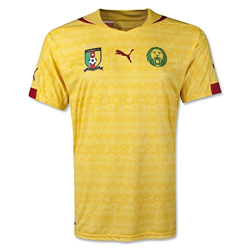 PUMA Men's Cameroon Away Shirt Replica Dandelion T-Shirt (Italy 1990 World Cup)