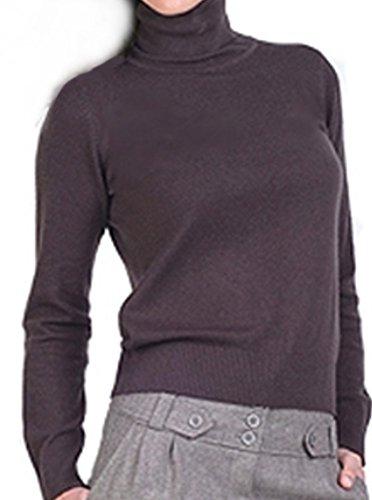 Balldiri 100% Cashmere Kaschmir Damen Pullover Rollkragen mit Bündchen brownies XS