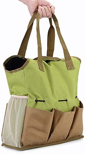 Garden Tote Bag,Multi-function Portable Oxford Cloth Garden Tool Storage Box Home Lawn Yard Plant Bag Flower Shovel Bag with 8 Pockets and Handles Organizer Tool Bag