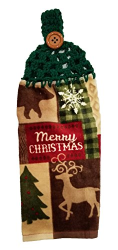 Handcrafted Patty Green Crochet Topped Merry Christmas Animals