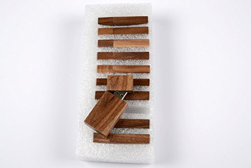 SameDayFlash 4GB USB 2.0 Flash Drive – 10 PCS Bulk – Wooden Walnut Grove Design