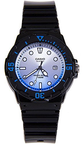 Watch Date Series - Casio Women's 'Dive Series' Quartz Resin Casual Watch, Color:Black (Model: LRW-200H-2EVCR)