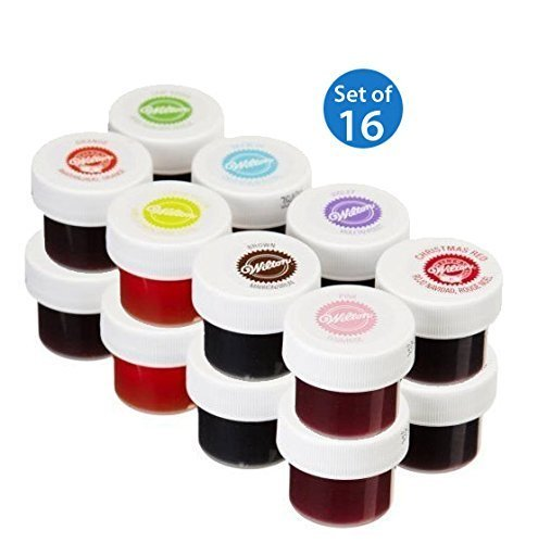 Wilton Set of 8 Icing Colors (Set of 16) (B00PLYJ5V0