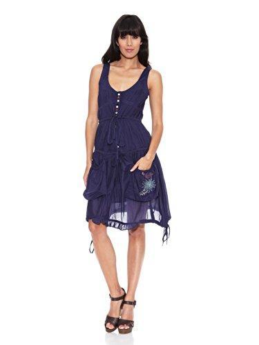 Desigual Vestido Rep Azul Seaday Marino rfqwxrUd