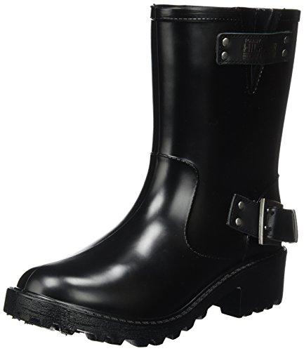 Tommy Jeans Damen A1385nnalina 1r Biker Boots Schwarz (Black)