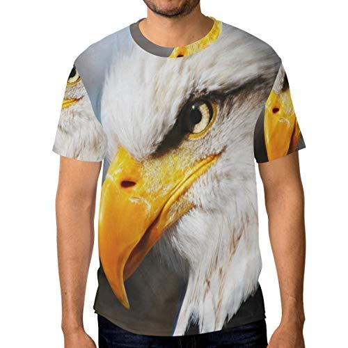 - Lovexue Bald Eagle Stare TShirtsforMenTopTeeCrewNeck Cotton T-Shirt