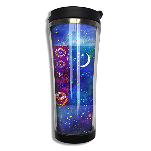 Turkmenistan Flag Starry Flag Travel Cup Mug Coffee Cup Tumbler Travel Stainless Steel Thermos(420 Ml 10.6 Oz)