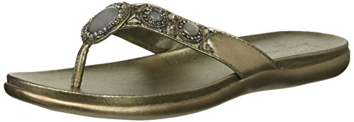 Kenneth Cole REACTION Women's Glam-a-Thon 2 Glitzy Thong Sandal Flip-Flop, Hematite, 6.5 M US