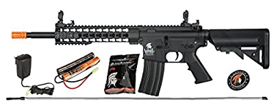 UKARMS Lancer Tactical M4 KEYMOD AEG FIELD Metal Gears Airsoft Gun Rifle w/9.6v Battery & Charger